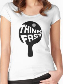 Ping Pong Think Fast Women's Fitted Scoop T-Shirt