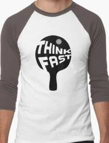 Ping Pong Think Fast Men's Baseball ¾ T-Shirt