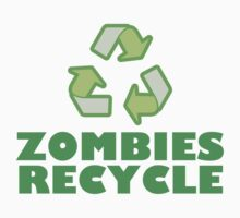 Zombies Recycle Baby Tee