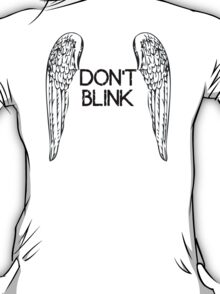 [Doctor Who] Don't Blink - Wings (Black) T-Shirt