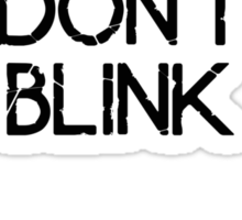 [Doctor Who] Don't Blink - Wings (Black) Sticker