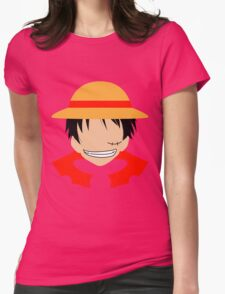 Luffy One Piece Minimalistic Art Womens Fitted T-Shirt