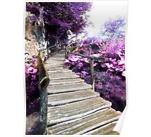 wisteria stairs Poster