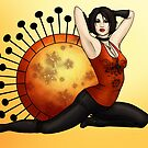 Rock Chick Pinup by CatAstrophe