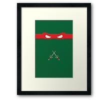 Red Ninja Turtles Raphael Framed Print