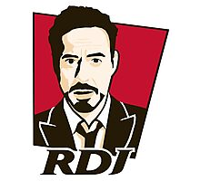 Robert Downey Jr. - KFC Logo Photographic Print