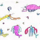 lobsters and shrimps by maybemary
