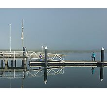 Two Bubblers on Werribee South Jetty Vic. Photographic Print