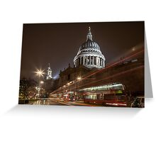 Traffic at St. Paul's Greeting Card
