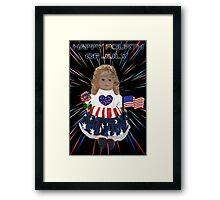 ̲̅L̲̅][̲̅I̲̅][̲̅K̲̅][̲̅E̲̅]HAPPY FOURTH OF JULY PATRIOTIC DOLL PICTURE/CARD ̲̅L̲̅][̲̅I̲̅][̲̅K̲̅][̲̅E̲̅] Framed Print