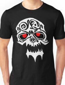 Tribal White Skull head shot Unisex T-Shirt