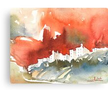 France - The Menerbes Where Nicolas de Stael lived Canvas Print