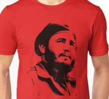 Young Fidel Castro with a Dreamy Look and Beret Unisex T-Shirt