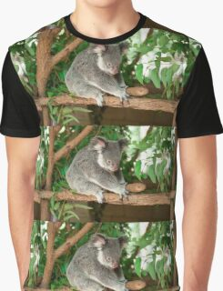 Koala by itself in a tree. Graphic T-Shirt