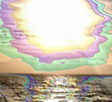 ANGELS ON THE BEACH Sticker