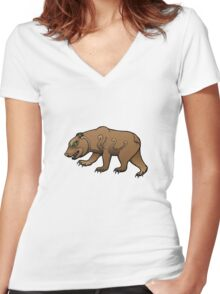 Only the Brave Find Glory Women's Fitted V-Neck T-Shirt