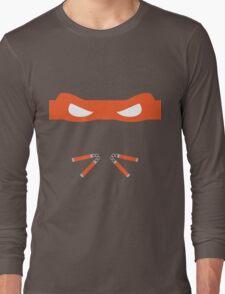 Orange Ninja Turtles Michelangelo Long Sleeve T-Shirt