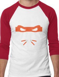 Orange Ninja Turtles Michelangelo Men's Baseball ¾ T-Shirt