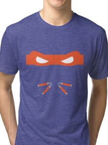 Orange Ninja Turtles Michelangelo Tri-blend T-Shirt
