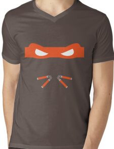 Orange Ninja Turtles Michelangelo Mens V-Neck T-Shirt