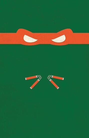 Orange Ninja Turtles Michelangelo by thejoyker1986