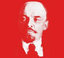 Vladimir Ilyich Lenin Classic White Portrait Shirt by ibadishi