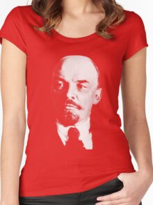 Vladimir Ilyich Lenin Classic White Portrait Shirt Women's Fitted Scoop T-Shirt