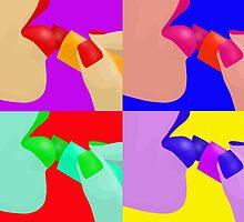 Colorful Pop Art of Lipstick on Sexy Lips by ibadishi
