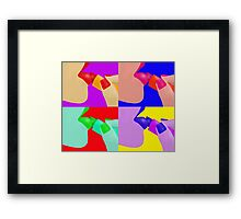 Colorful Pop Art of Lipstick on Sexy Lips Framed Print