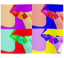 Colorful Pop Art of Lipstick on Sexy Lips Poster