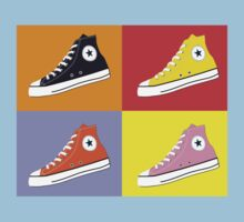 Pop Art All Star Inspired Hi Top Sneaker Kids Tee