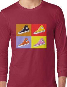 Pop Art All Star Inspired Hi Top Sneaker Long Sleeve T-Shirt