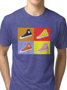 Pop Art All Star Inspired Hi Top Sneaker Tri-blend T-Shirt