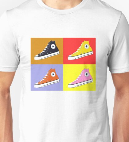 Pop Art All Star Inspired Hi Top Sneaker Unisex T-Shirt