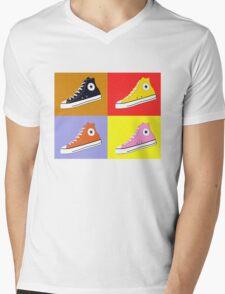 Pop Art All Star Inspired Hi Top Sneaker Mens V-Neck T-Shirt