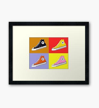 Pop Art All Star Inspired Hi Top Sneaker Framed Print