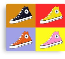 Pop Art All Star Inspired Hi Top Sneaker Canvas Print