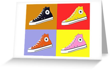 Pop Art All Star Inspired Hi Top Sneaker by ibadishi