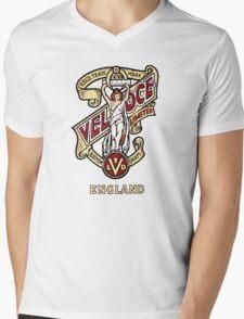 Classic British Motorcycle Emblem - Velocette Maiden Mens V-Neck T-Shirt