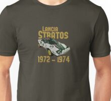 Vintage Look Lancia Stratos Retro Rally Car Unisex T-Shirt