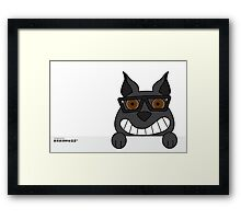 Padstow - Who's there? Funny Dog Framed Print