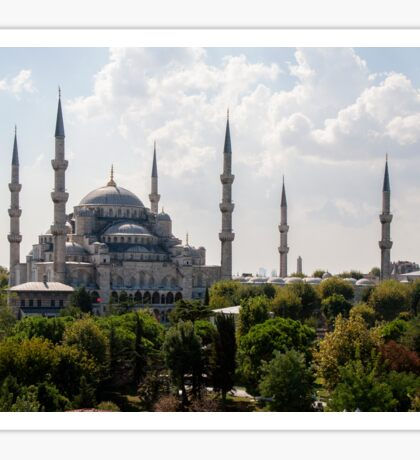 Blue Mosque by Day Sticker