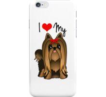 Cute Long Hair Yorshire Terrier Puppy Dog iPhone Case/Skin