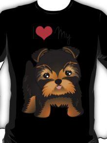Cute Yorshire Terrier Puppy Dog T-Shirt