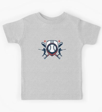 baseball player logo Kids Tee