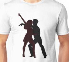 Silhouette of Salsa Dancers - Illustration Unisex T-Shirt