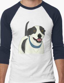 Cute Smiling Dog Line Art Men's Baseball ¾ T-Shirt
