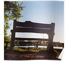 Bench by the Lake Poster