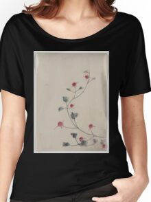 Small red blossoms on a vine 001 Women's Relaxed Fit T-Shirt