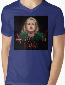 Hillary ANGRY OLD DRUNK Mens V-Neck T-Shirt